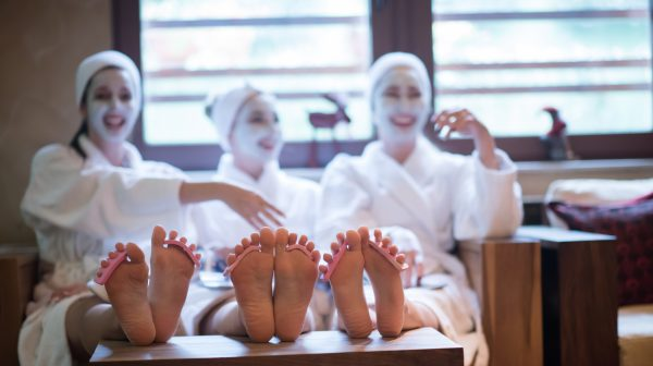 Group of female friends in spa