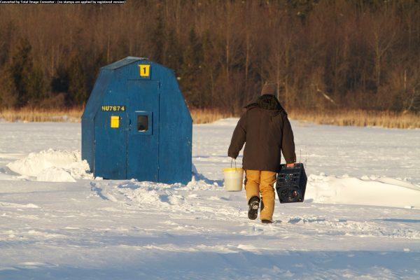 Ice Fishing, Lake Scugog Fishing