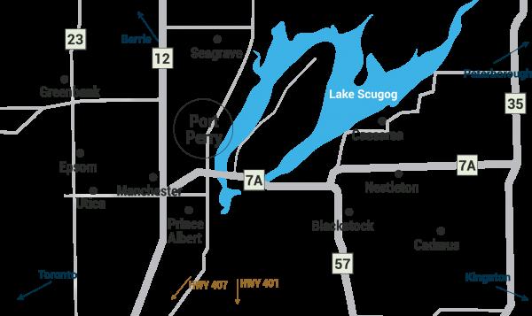 map of scugog
