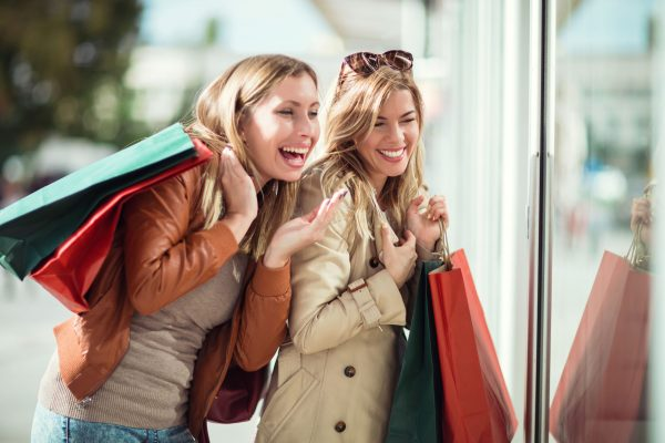 Young Ladies Shopping